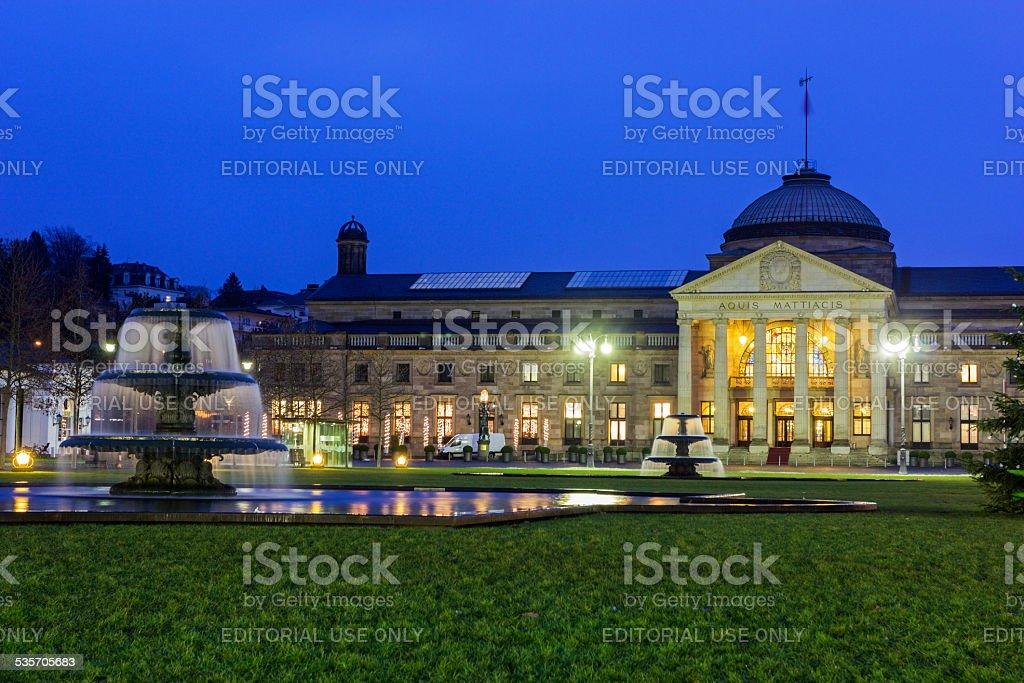 The Kurhaus of Wiesbaden in Germany stock photo