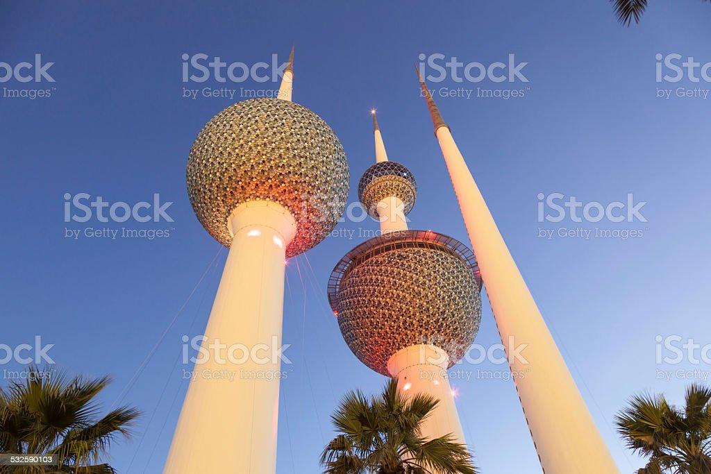 The Kuwait Towers stock photo