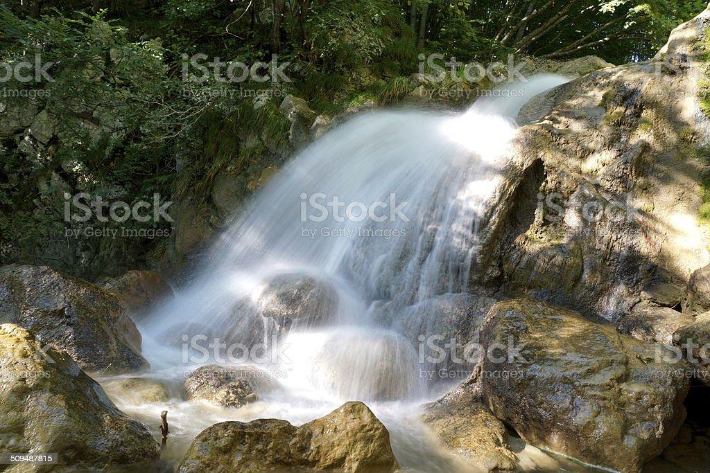 The la Vence creek close to Le-Sappey-en-Chartreuse stock photo
