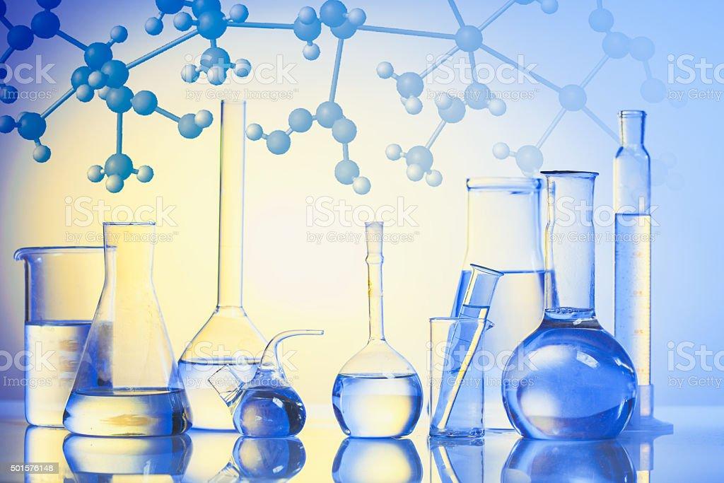 The Laboratory glass stock photo