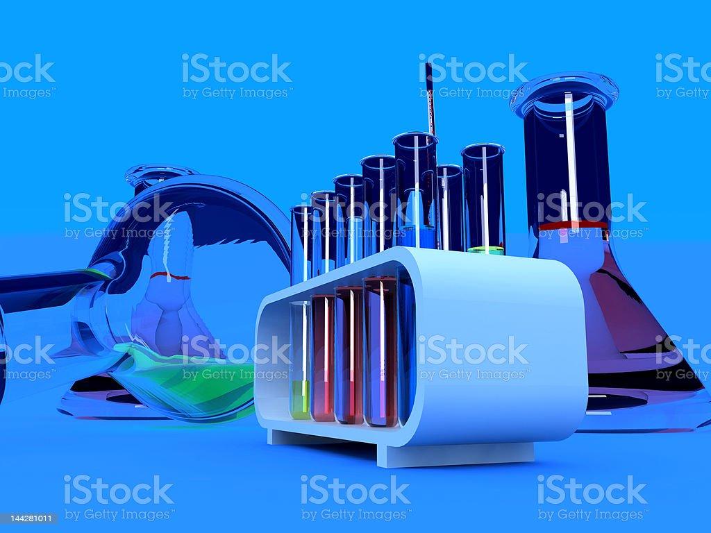 the laboratory tust tubes royalty-free stock photo