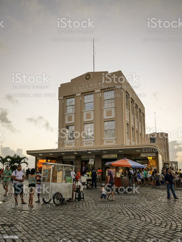 The Lacerda Elevator, Salvador, Brazil stock photo