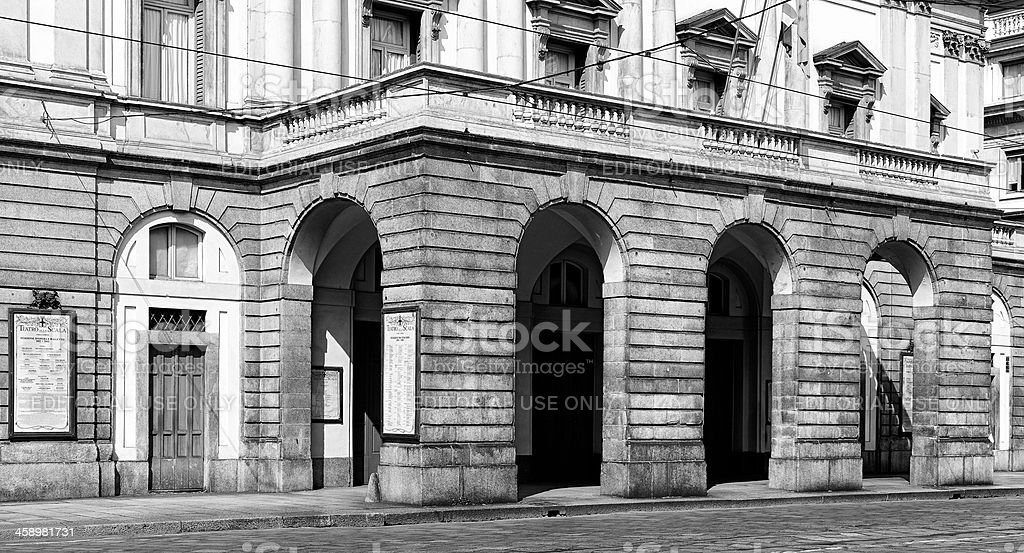 La scala. Milan stock photo