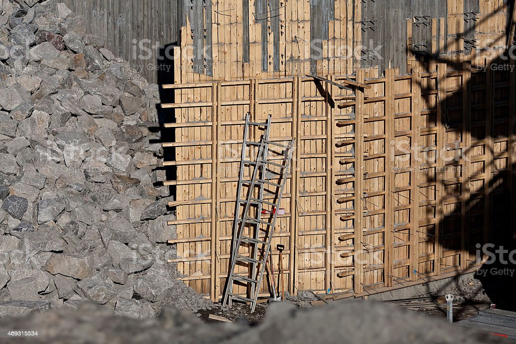 The ladder in the construction site royalty-free stock photo