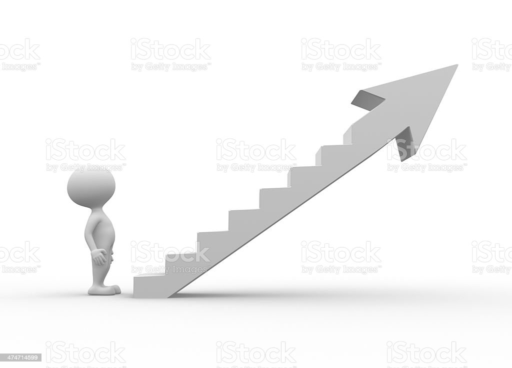 The ladder royalty-free stock photo