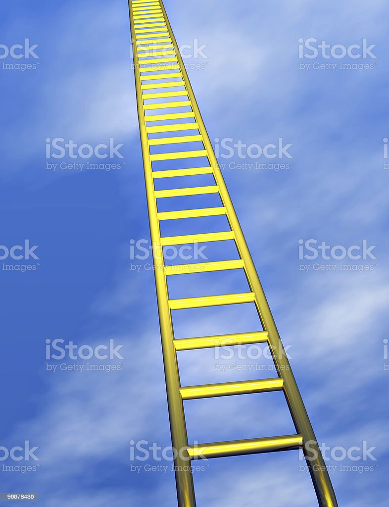 The ladder to success stock photo