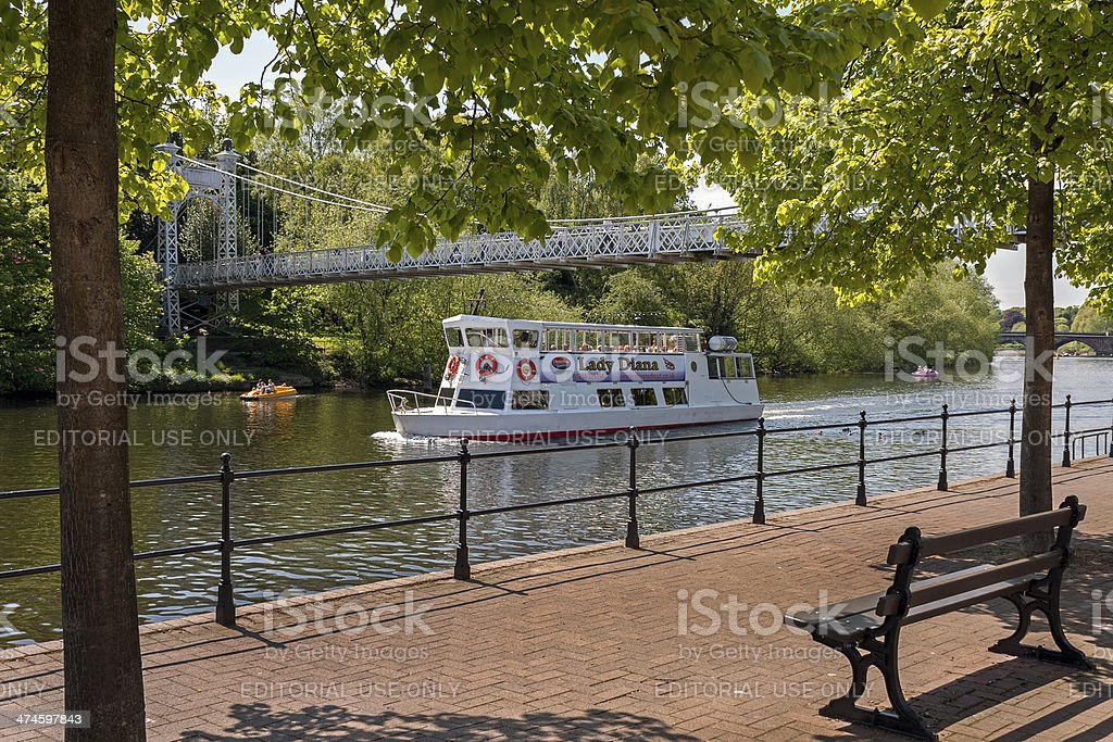 The Lady Diana,River Dee, Chester stock photo