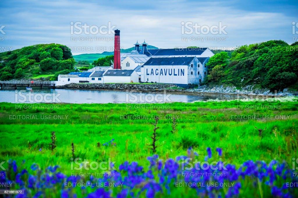 The Lagavulin Distillery stock photo