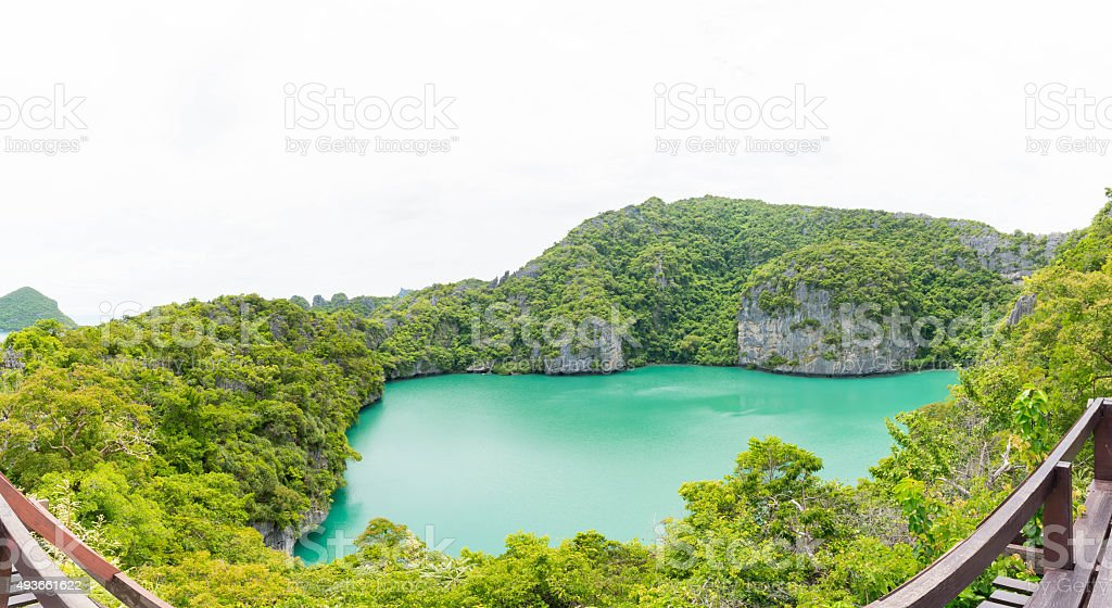 The lagoon, Mae Koh island, South of Thailand stock photo