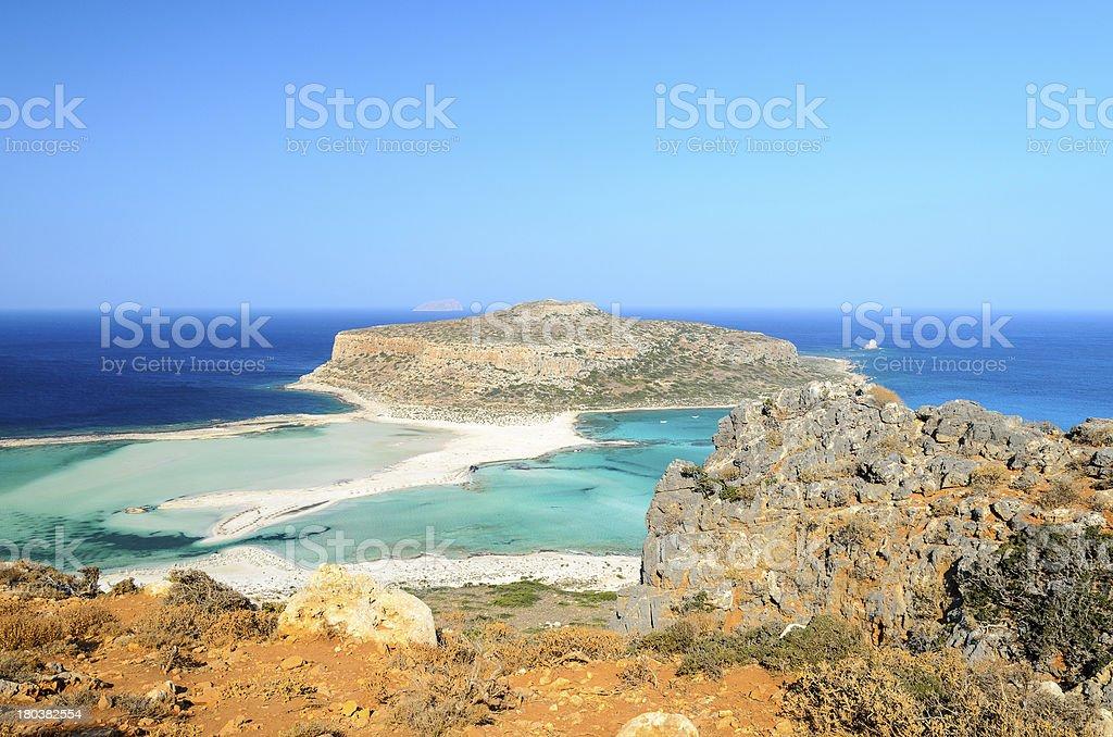 The lagoon of Balos royalty-free stock photo