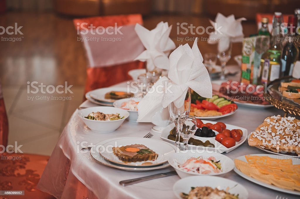 The laid table 2058. stock photo