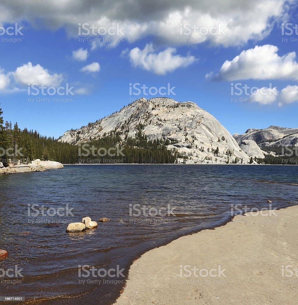 The lake at  Pass in Yosemite Park royalty-free stock photo