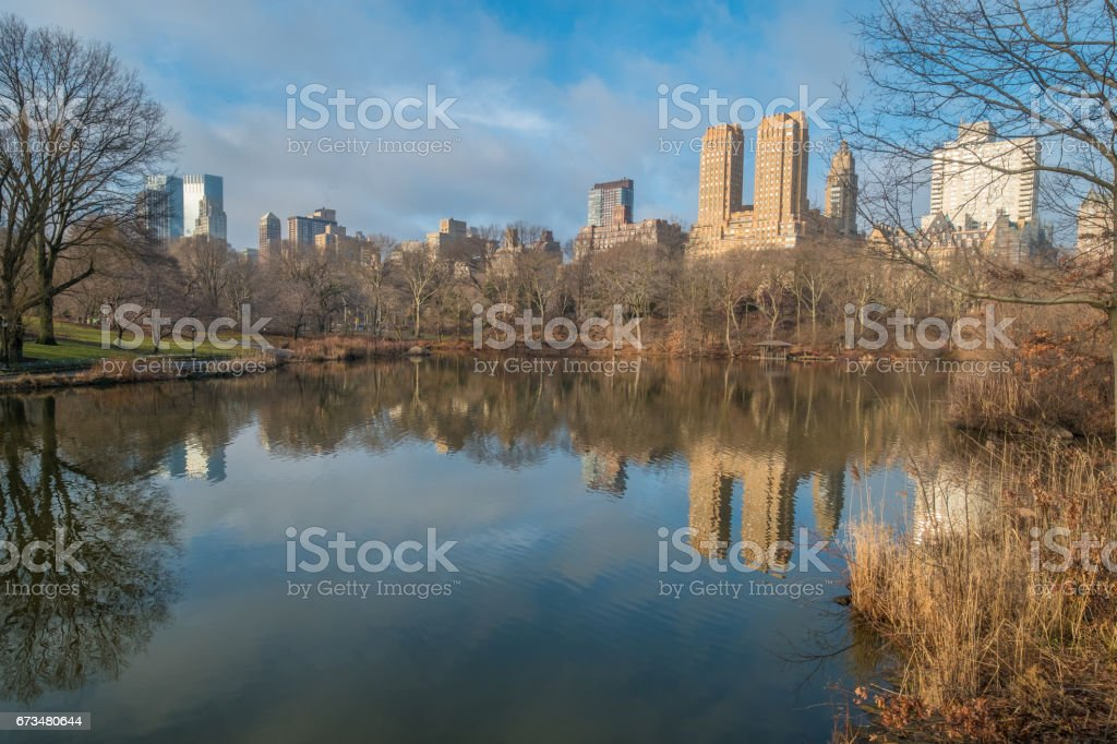 The Lake, Central Park, NYC stock photo