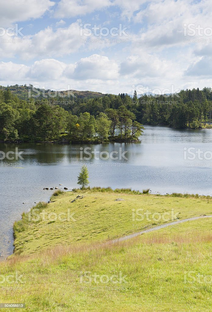 The Lake District with no rain at Tarn Hows stock photo