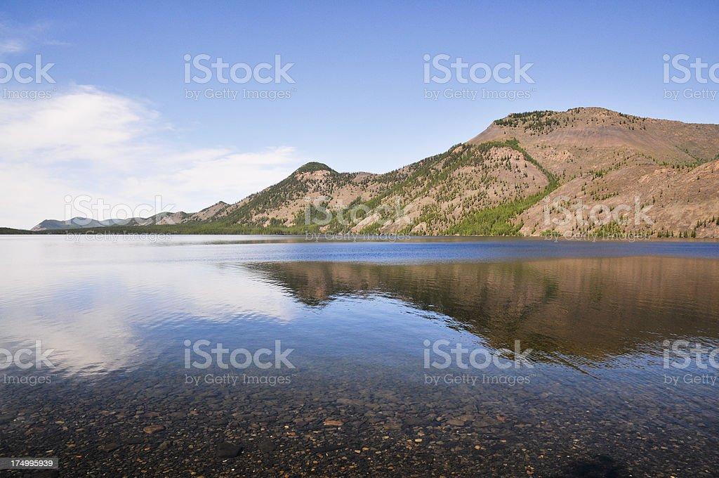 The lake Dvargalaak. royalty-free stock photo