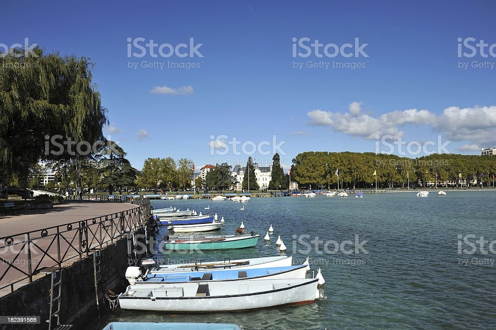 The lake in  Annecy, Haute Savoie, Rhone Alpes, France stock photo
