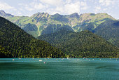 The lake in the mountains of Abkhazia