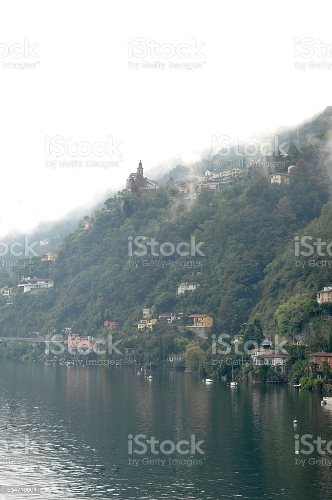 The lake Maggiore shore stock photo