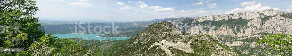 The lake of Sainte-Croix - South-East of France stock photo