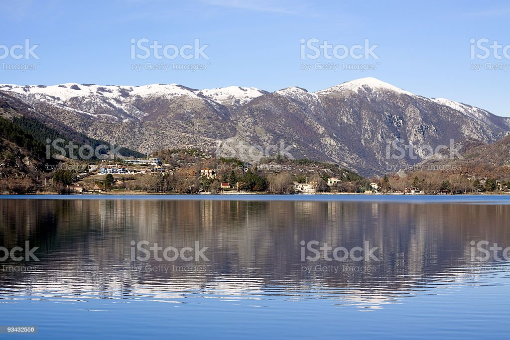 The lake of Scanno royalty-free stock photo