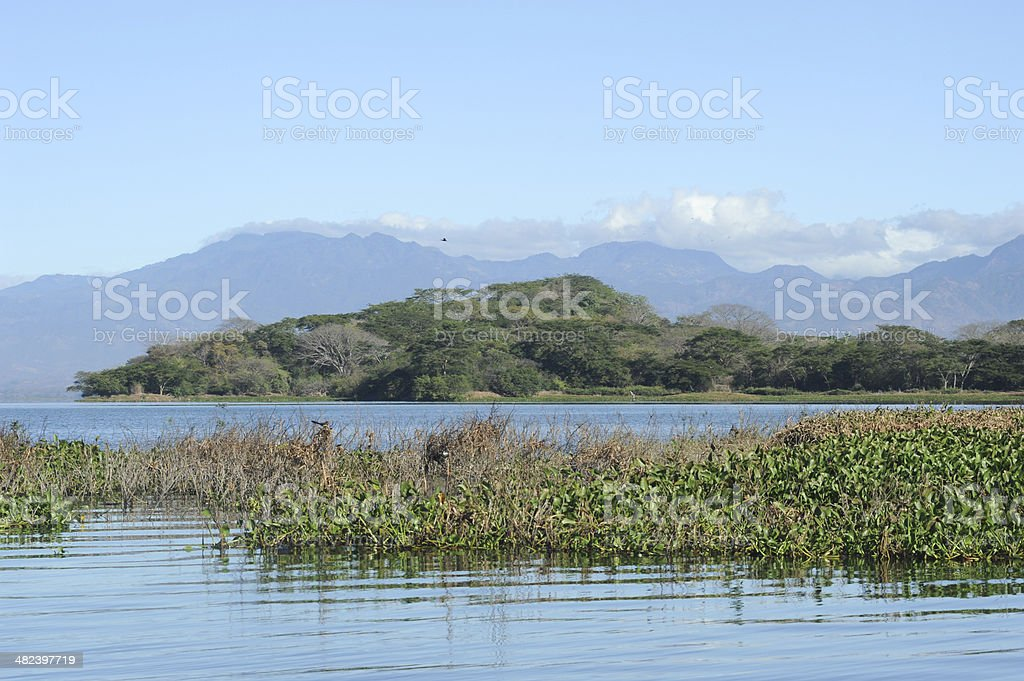The lake of Suchitlan near Suchitoto stock photo