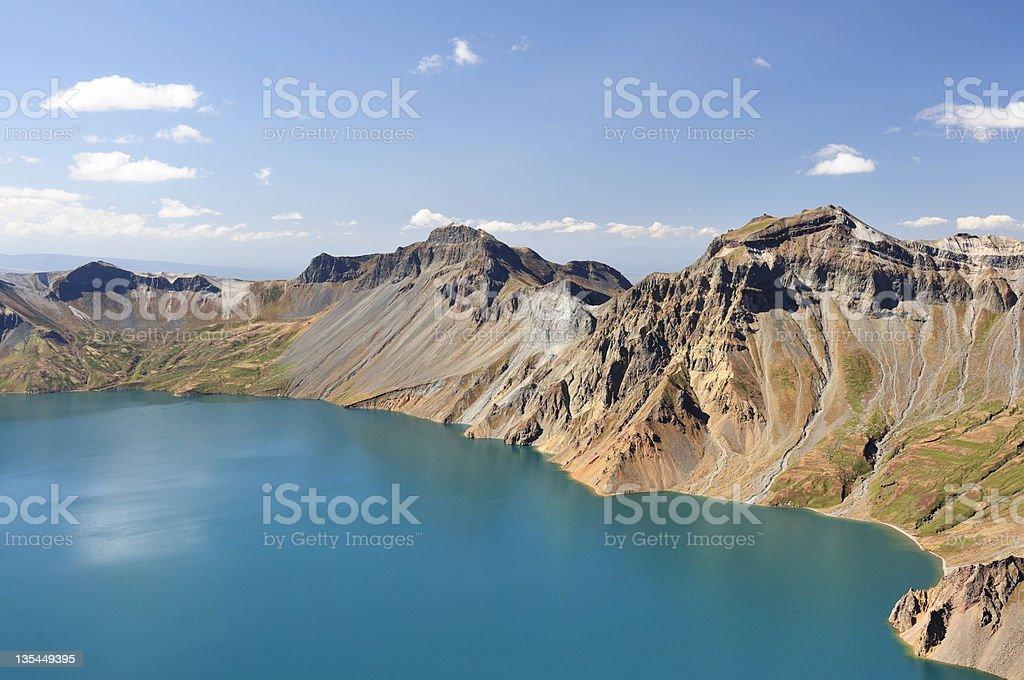 The lake on Changbai Mountain stock photo