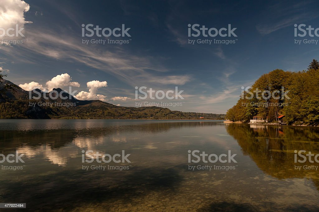 The lakeside view royalty-free stock photo