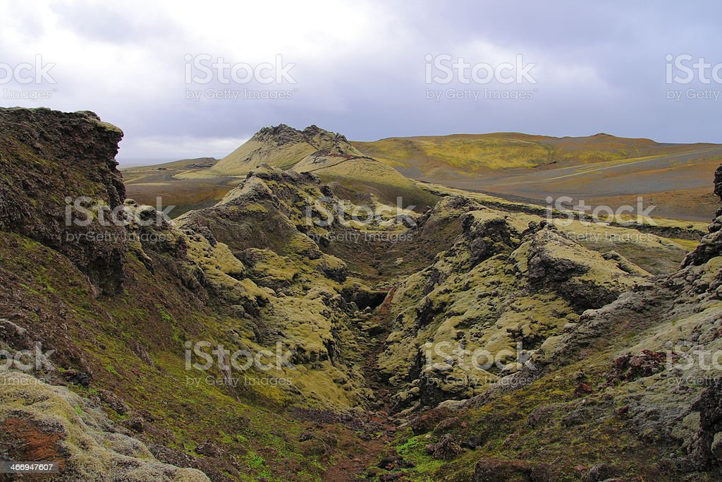 The Laki craters royalty-free stock photo
