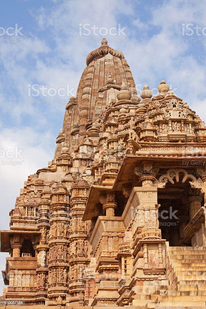 The Lakshmana temple, part of the complex at Khajuraho, India stock photo