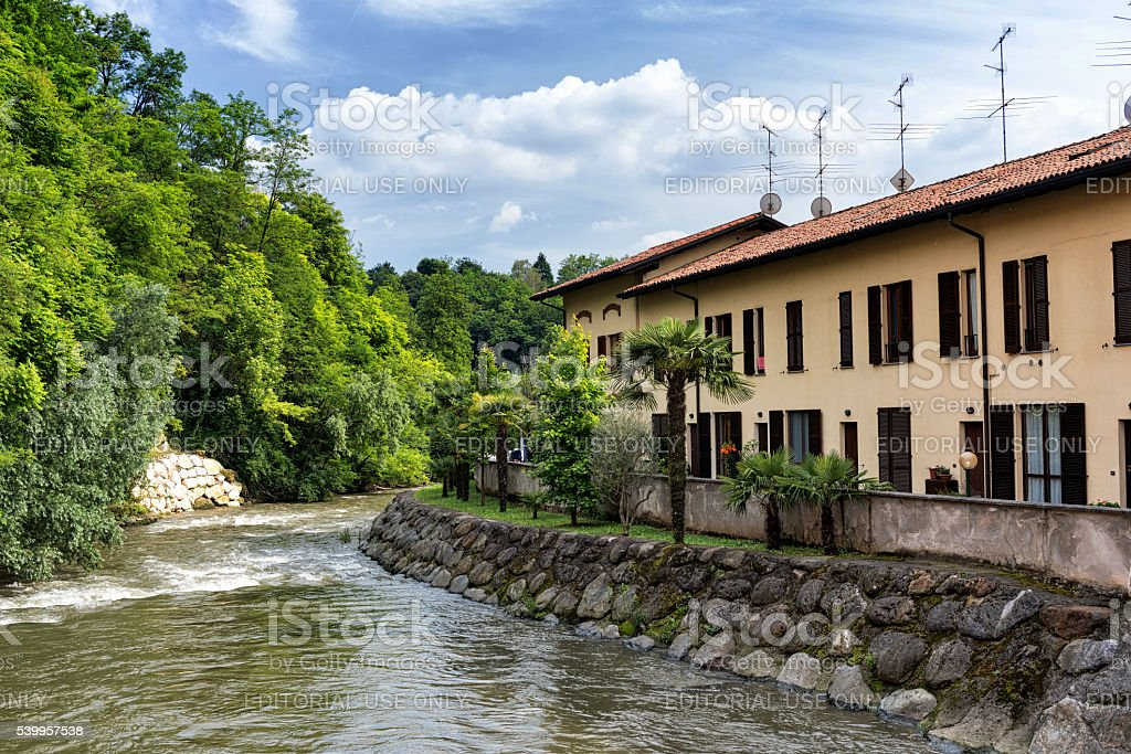 The Lambro river (Brianza, Italy) stock photo