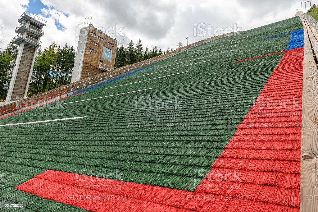 The landings big jump in Planica Carniola, Slovenia,  Europe stock photo