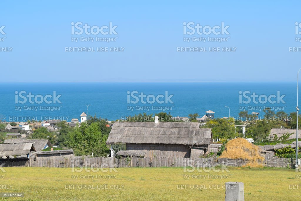 The landscape at the Cossack village stock photo