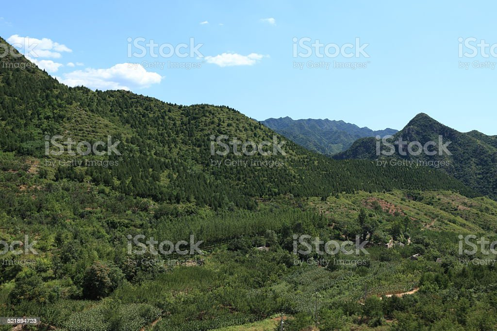Die Landschaft bei Chengde in China stock photo