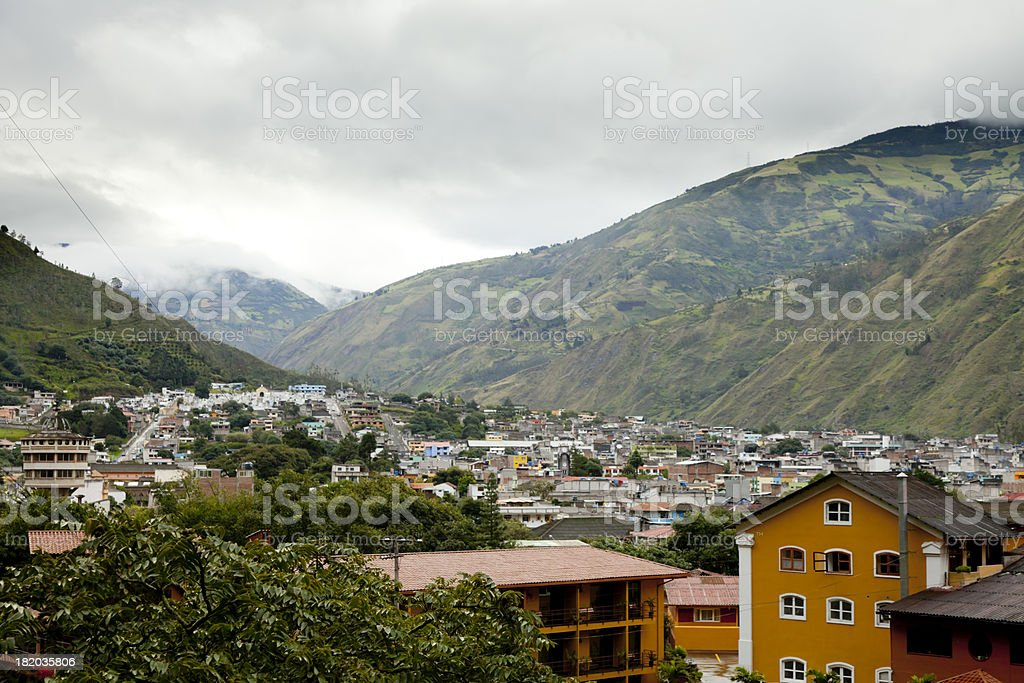 The Landscape of Banos, Ecuador stock photo