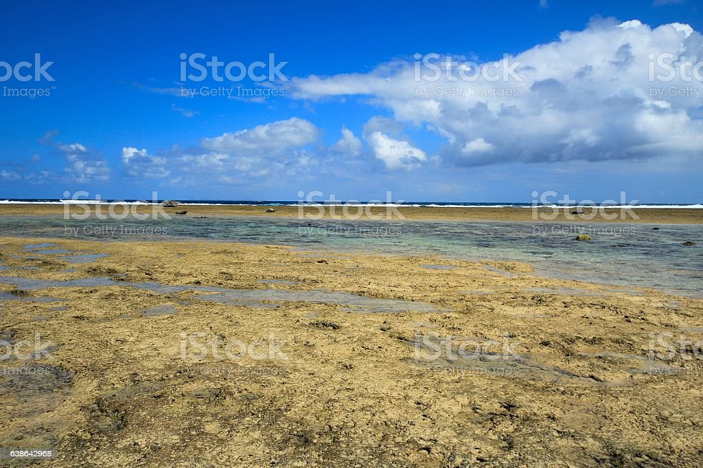 The landscape of Bisezaki, Okinawa, Japan stock photo