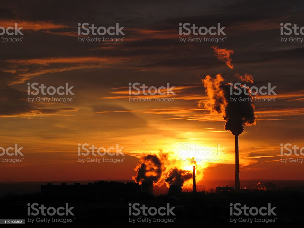 The landscape of industrial. royalty-free stock photo