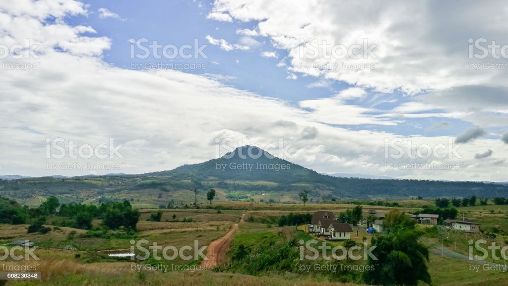 The landscape of the mountains in Thailand stock photo