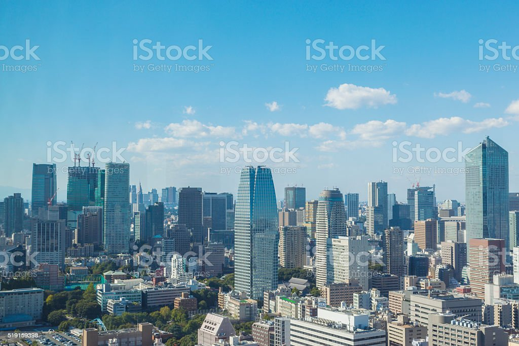 The landscape of Tokyo stock photo