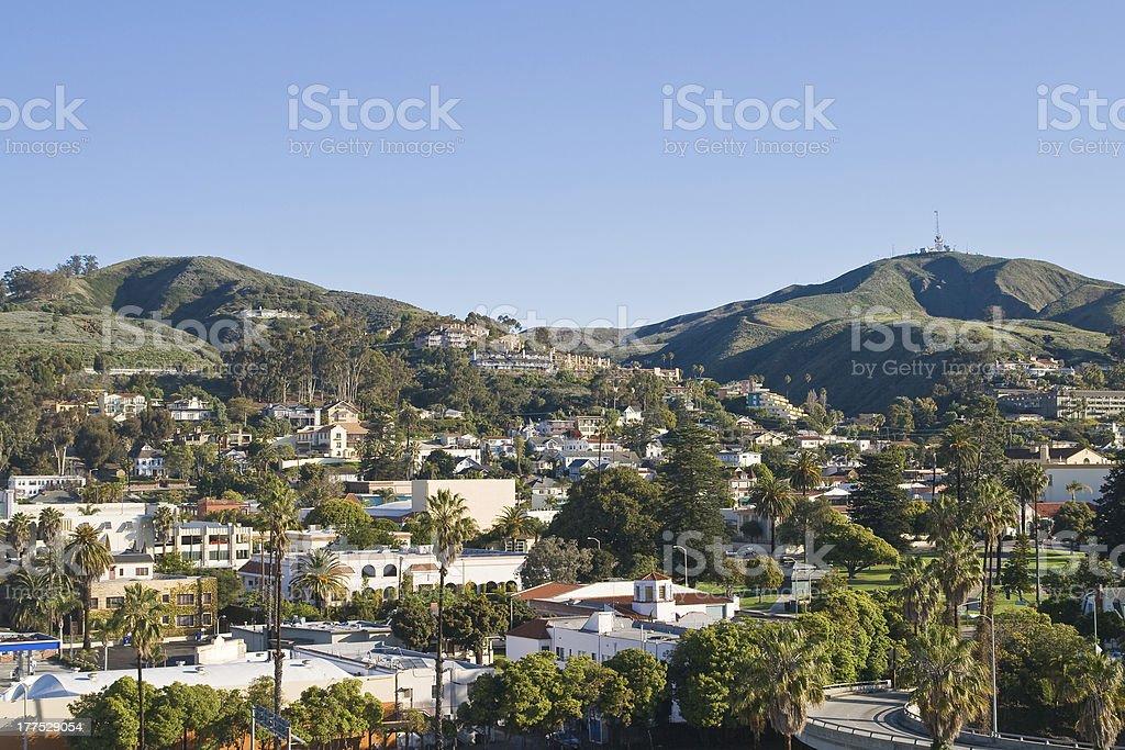 The landscape of Ventura horizon stock photo