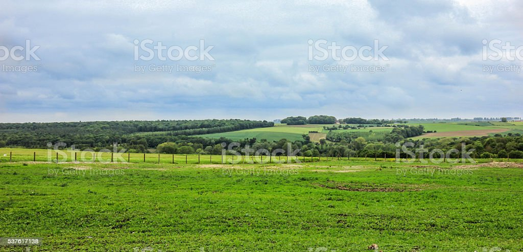 The landscarp near the Thiepval Memorial stock photo