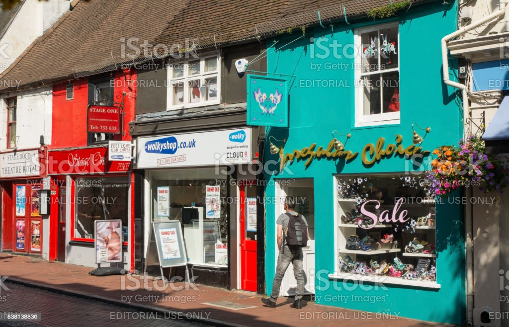 The Lanes, Brighton, Sussex, England stock photo
