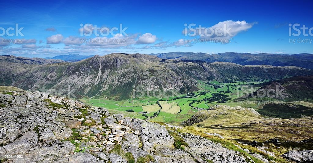 The Langdale Pikes stock photo