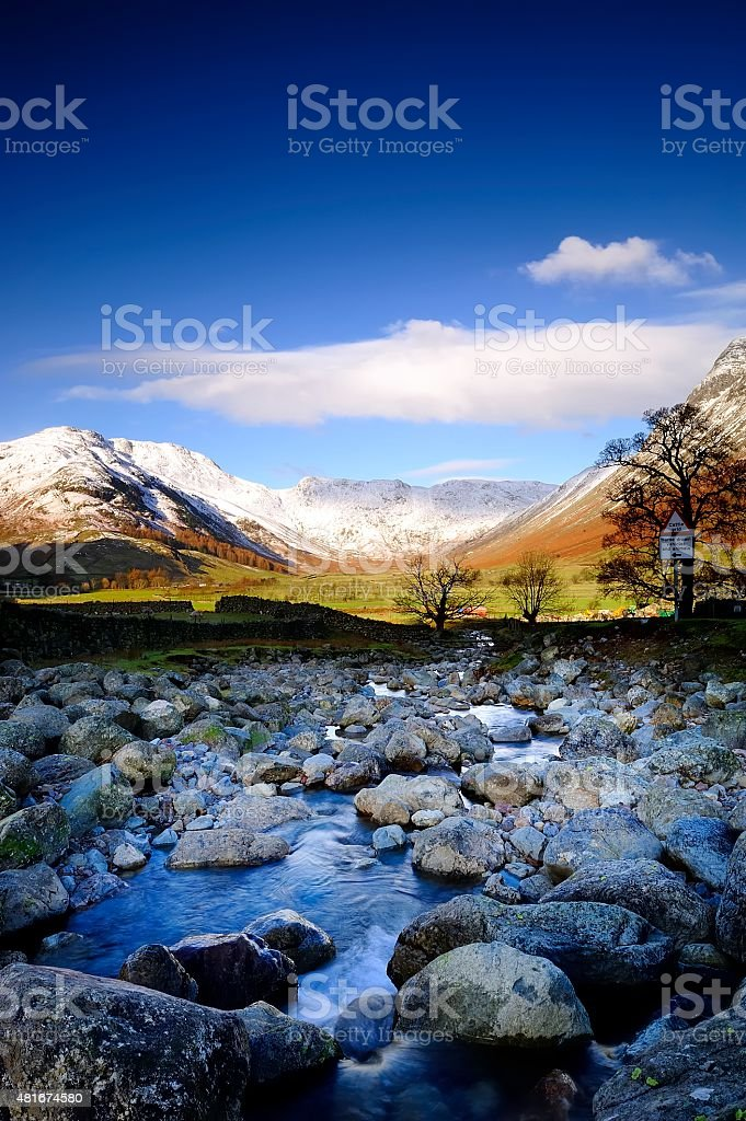 The Langdale Valley stock photo