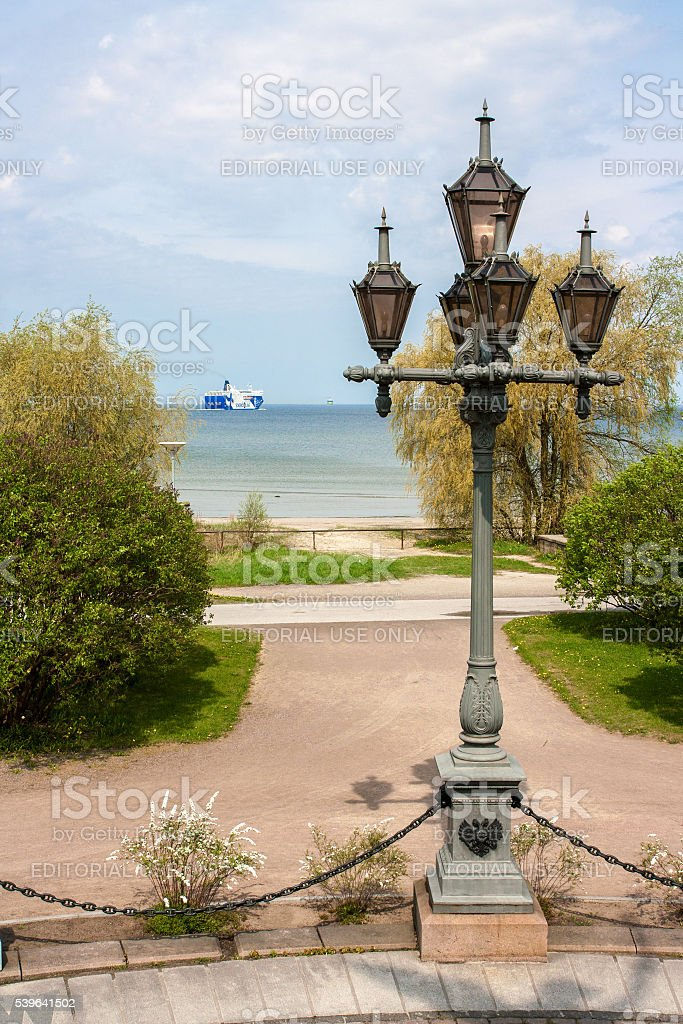 The Lantern of Memorial Rusalka stock photo