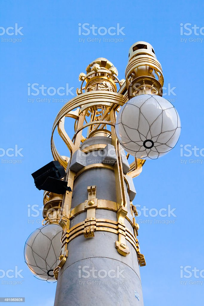 The lantern with the ball shades stock photo