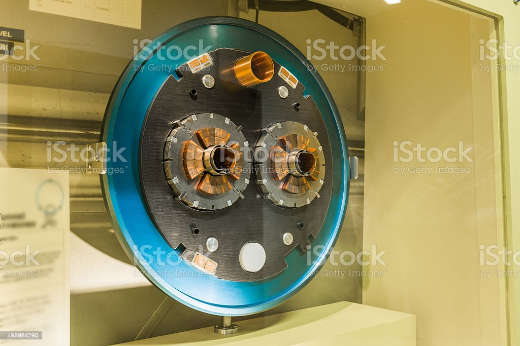 The large hadron collider. stock photo