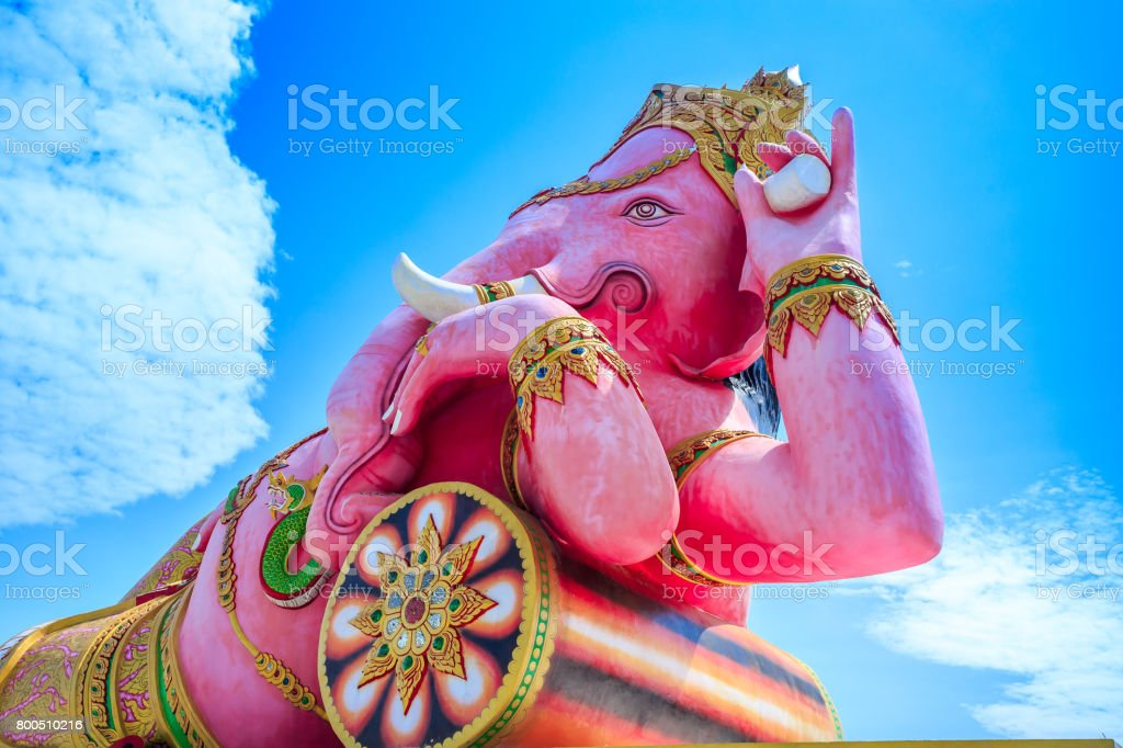The largest Ganesh in the world, Thailand stock photo