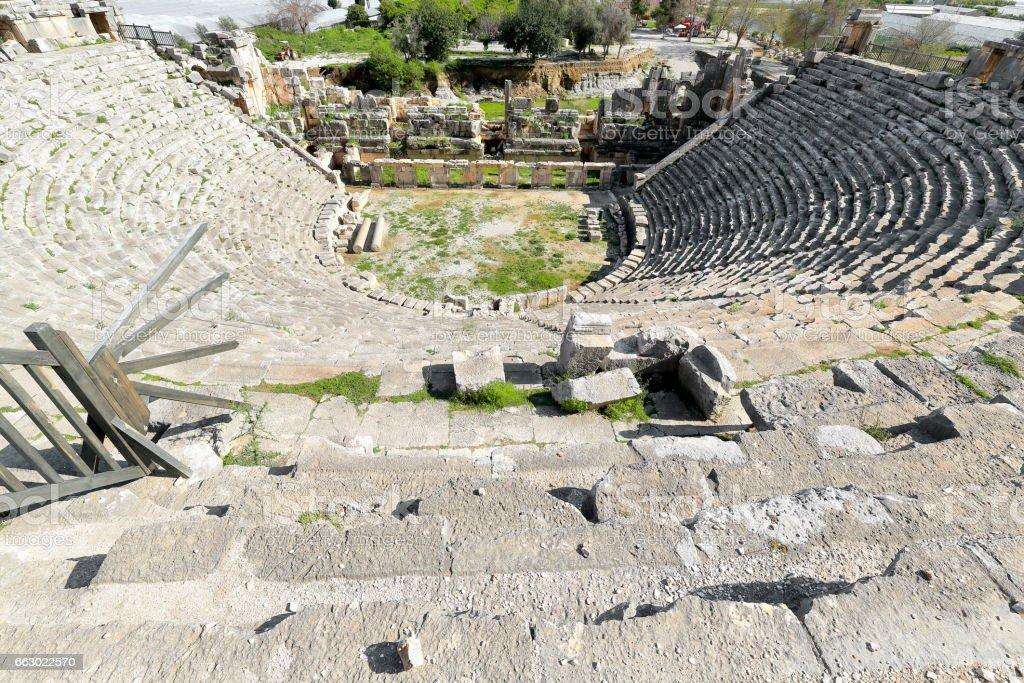 The largest Greco-Roman theater in Lycia. Myra-Turkey. 0688 stock photo