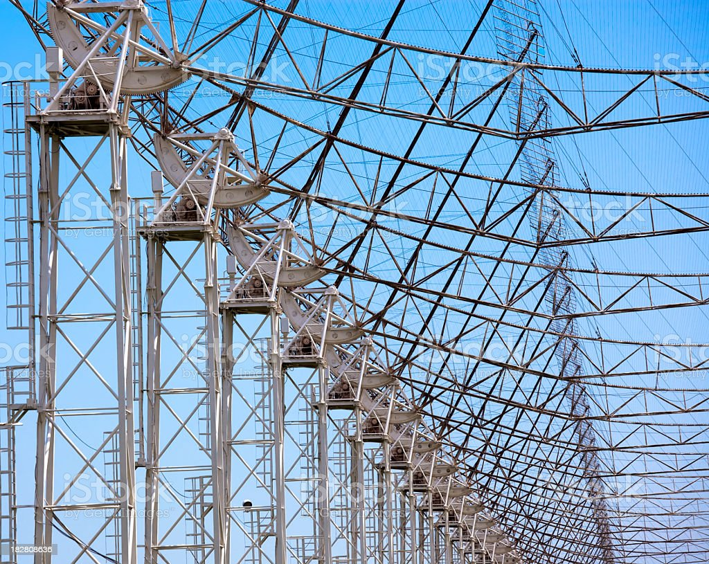 The largest wide-band radio telescope DKR 1000 stock photo