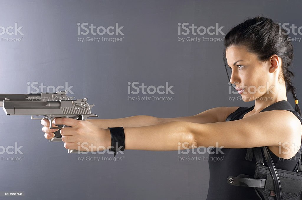 The Last Action Heroine royalty-free stock photo